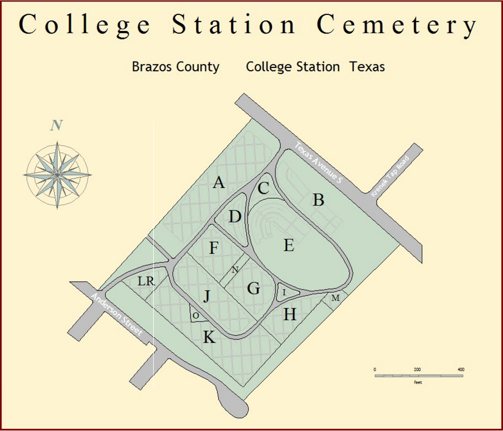 College Station Map Of Texas.College Station Cemetery College Station Texas Burial Records