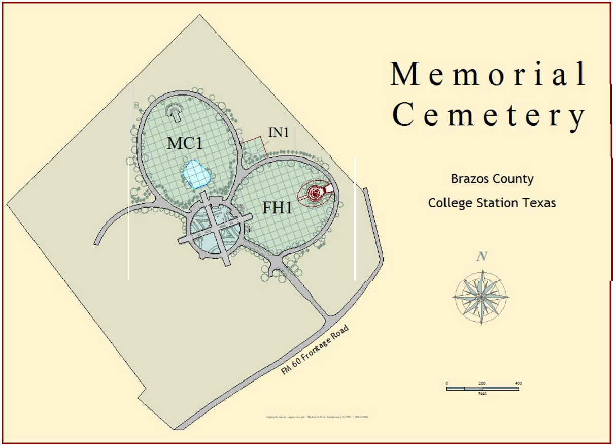 Memorial Cemetery Of College Station College Station Texas - College station texas map