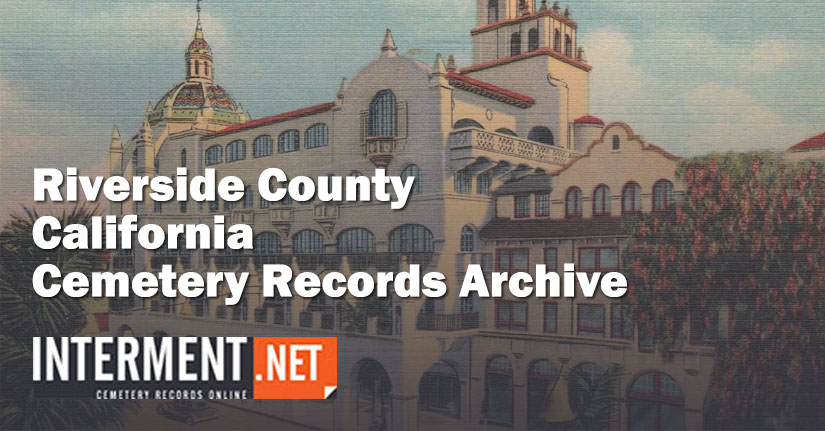 riverside county california cemetery records
