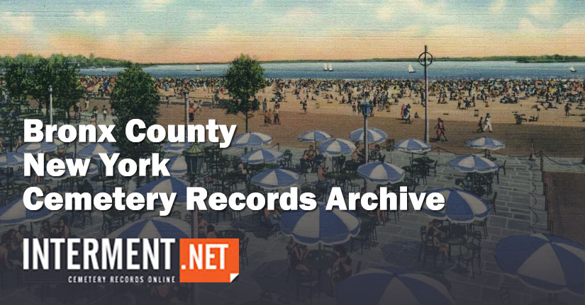 bronx county new york cemetery records