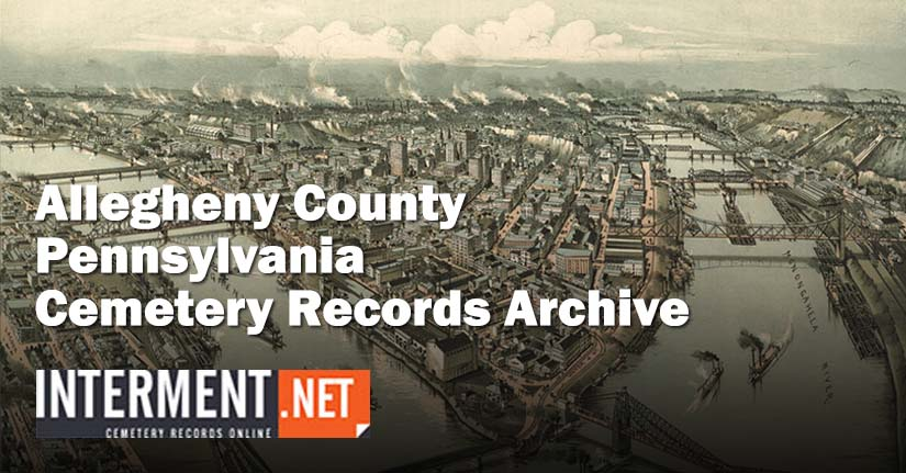 allegheny county pennsylvania cemetery records