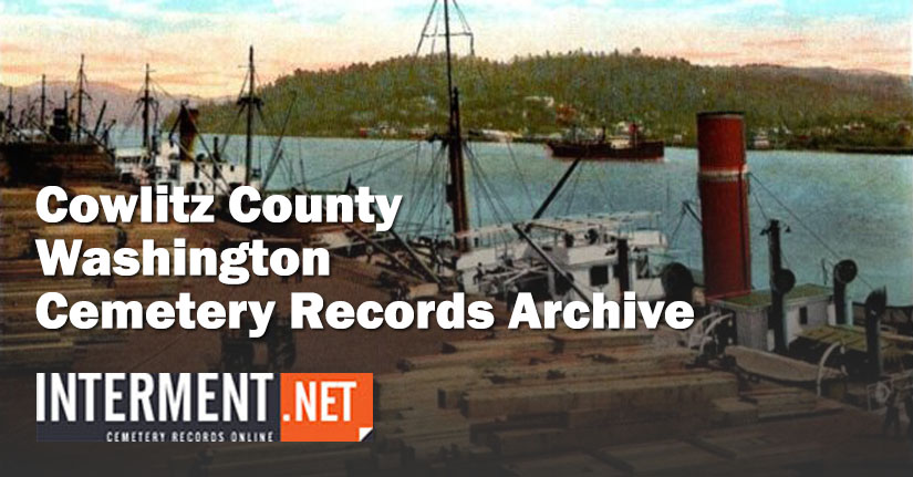 cowlitz county washington cemetery records